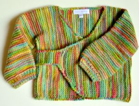 Multicoloured  wrap around Cardigan
